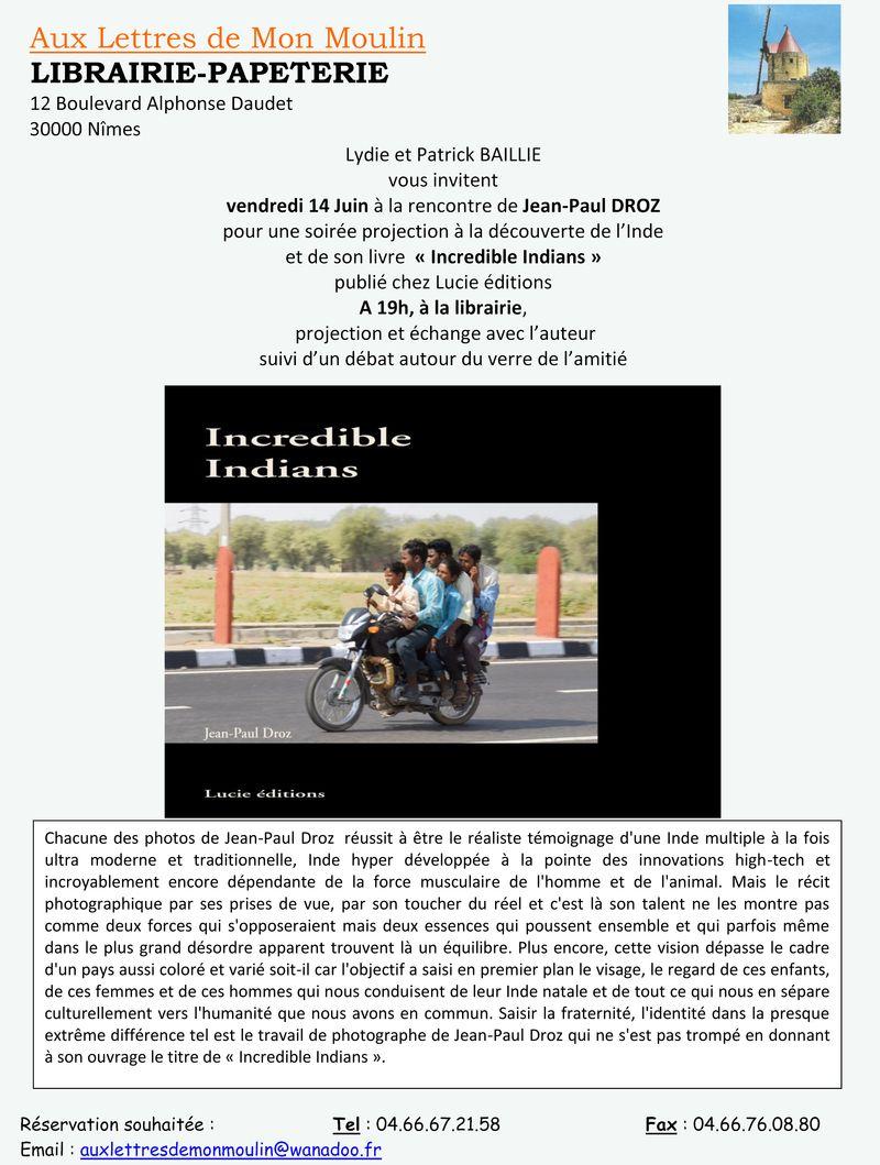 Invitation jean paul droz 14 juin 2013